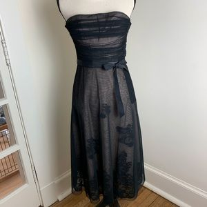 BCGCMaxazira Black Tulle/Lace Strapless Dress Sz 0